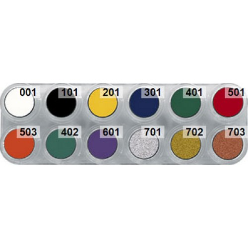 Grimas cream makeup palette F - 12 ballet shades