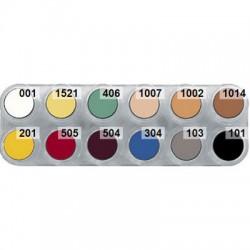 L cream makeup palette 12 casualty colours