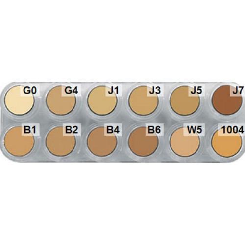 V cream makeup palette 12 skin tones