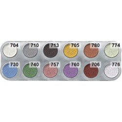 Grimas eyeshadow palette P1 with 12 pearl colours