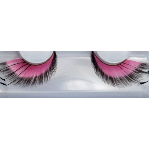 Eyelash Grimas 155 Gloria - pink swirled wings with feathers max 30mm