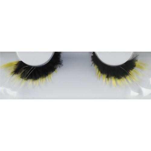 Eyelash Grimas 158 Sally - yellow swirls max 26mm