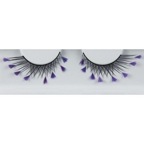 Eyelash Grimas 159 Sandra - criss-cross swirls with purple feathers max 16mm