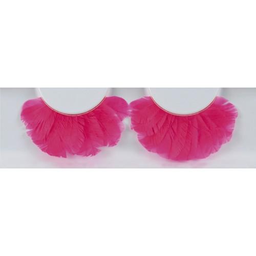 Eyelash Grimas 160 Stephanie - pink feather max 22mm