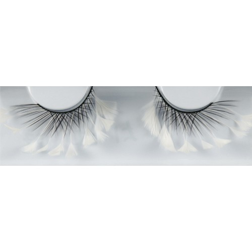 Eyelash Grimas 162 Marika - criss-cross swirls with white feather tips max 20mm
