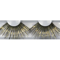 Eyelash Grimas 227 Twinkerella - gold and black dame lashes max 30mm