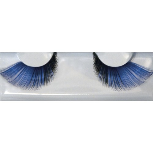 Eyelash Grimas 256 Angela - blue black soft swirls max 26mm