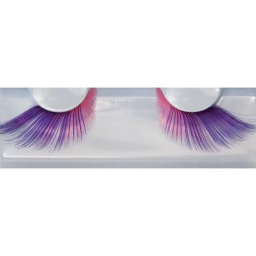 Eyelash Grimas 257 Anita - 2 tone soft pink-purple swirls max 24mm