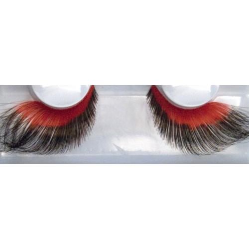 Eyelash Grimas 260 Caroline - soft red and black swirls max 26mm