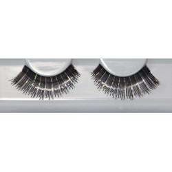 Eyelash Grimas 261 Charlene - shiny black with silver holograms