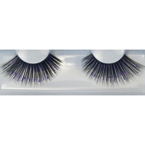Eyelash Grimas 285 Gaynor - big black with purple max 25mm