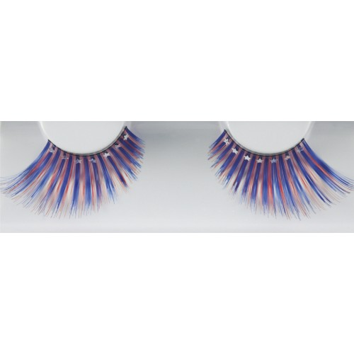 Eyelash Grimas 287 Abi - red and blue swirl with stars max 24mm