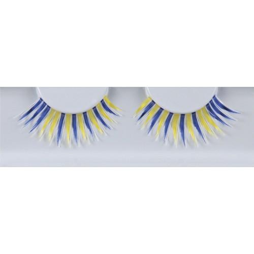 Eyelash Grimas 289 Hazel - spiky blue and yellow