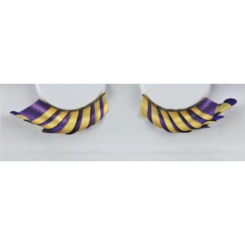 Eyelash Grimas 291 Jackie - purple and yellow curl max 12mm