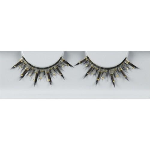 Eyelash Grimas 295 Julia - black and gold spectacular max 13mm