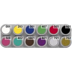 12 colour A water makeup palette