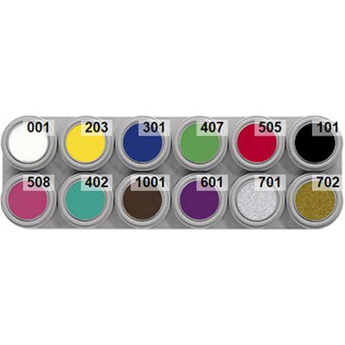 Grimas 12 colour a water makeup palette