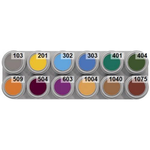 Grimas 12 colour b water makeup palette