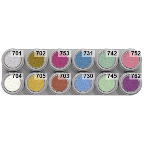 Grimas 12 pearl colour water palette