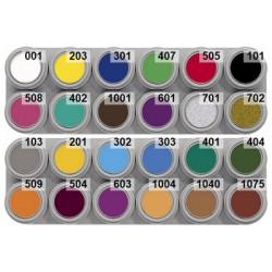 24 colour water makeup palette