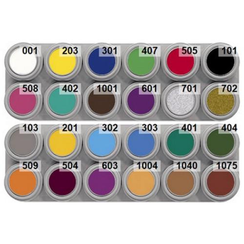 Grimas 24 colour water makeup palette