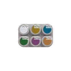 6 colour metallic water makeup palette