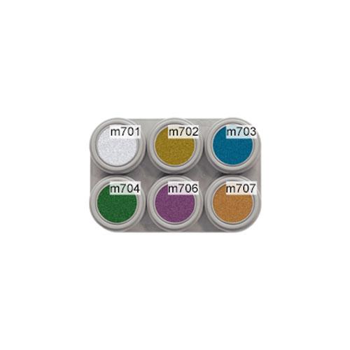 Grimas 6 colour metallic water makeup palette