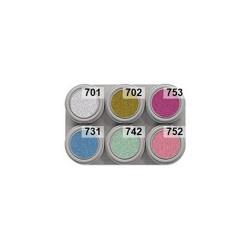 6 colour pearl water makeup palette