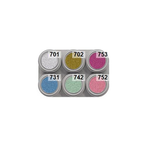 Grimas 6 colour pearl water makeup palette