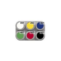 6 colour water makeup palette