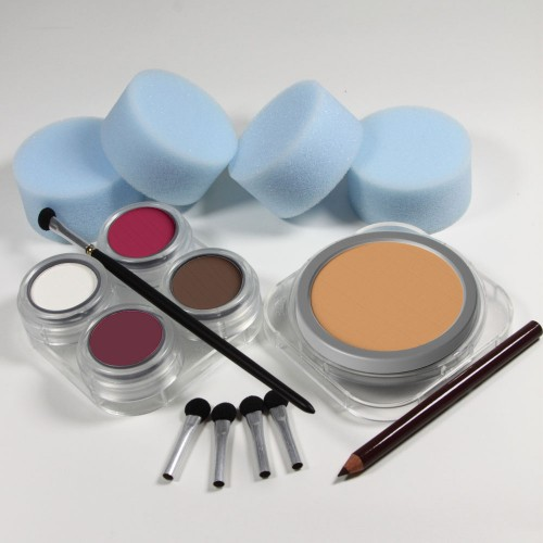 Beginners Please stage makeup kit cake - white female