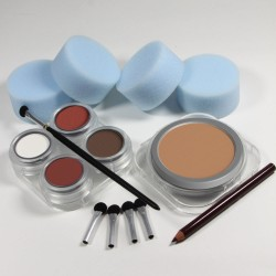 Beginners Please stage makeup kit cake - white male