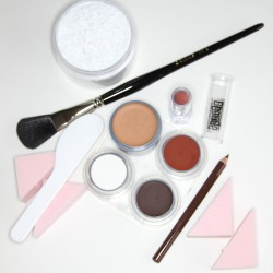 Beginners Please cream stage makeup kit - white female