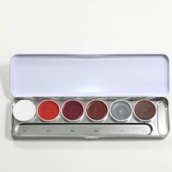 Kryolan Supracolor palette S - 6 contour and blusher colours