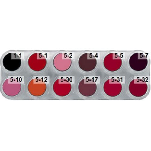 Grimas lipstick lf 12 colour palette