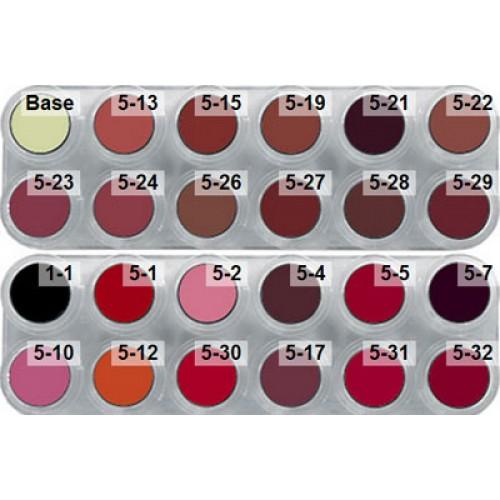 Grimas lipstick lk 24 colour palette