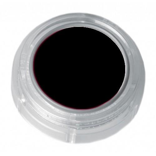 Grimas deep black lipstick in a 2.5ml pot - colour code 1-01