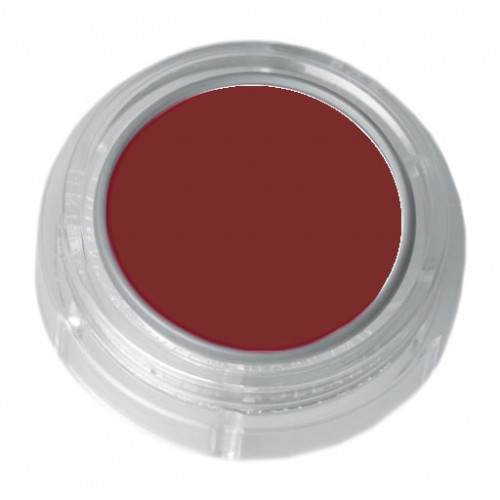 Grimas orange red lipstick in a 2.5ml pot - colour code 5-15