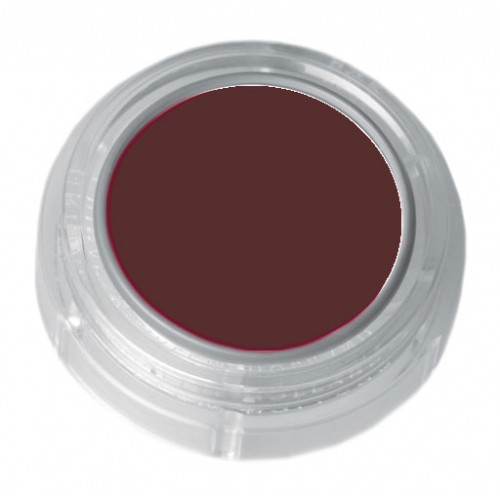 Grimas dark brown lipstick in a 2.5ml pot - colour code 5-28
