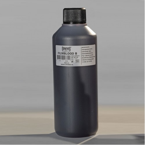 Grimas dark red film blood B in a 500ml bottle